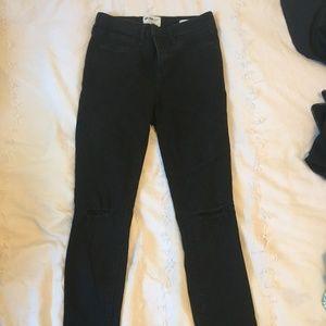 William Rast Cut/Ripped Black Jeans